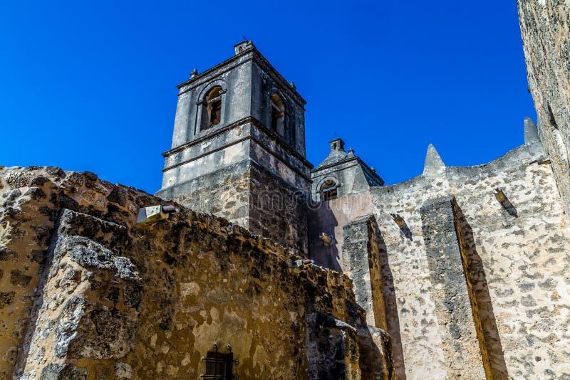 The Historic Old West Spanish Mission Concepcion, Established 1716, San Antonio, Texas. royalty free stock photo