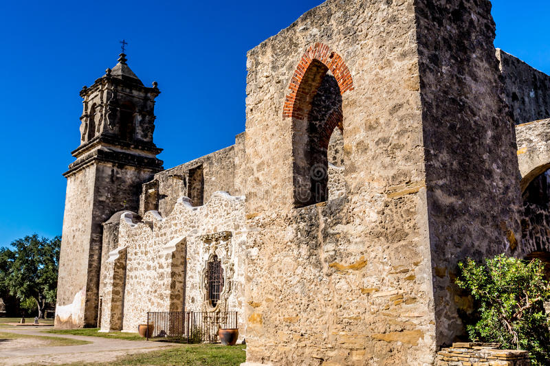 The Historic Old West Spanish Mission San Jose, Founded in 1720 stock image