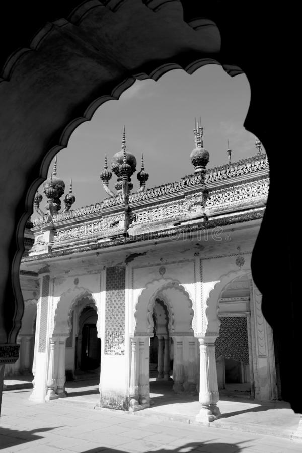 Historic Paigah tombs in Hyderabad, India stock images