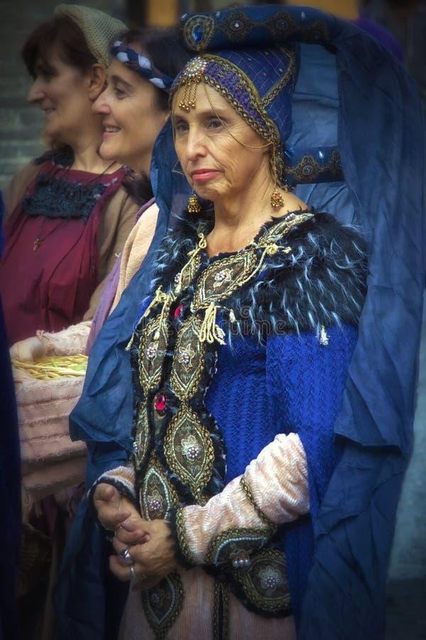 Historic parade in Parma royalty free stock photos
