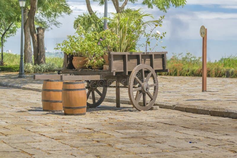 Historic Park, Guayaquil, Ecuador. Old carriage at historic park, a touristic attraction located at samborondon neighborhood, Guayaquil, Ecuador royalty free stock photography