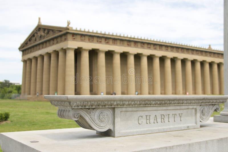 Historic Parthenon Building at Vanderbilt University. Outside view of the Parthenon replica on the campus of Vanderbilt University in Nashville, TN stock photo