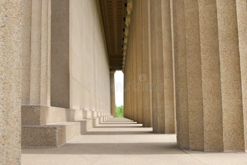 Historic Parthenon Building at Vanderbilt University. View of the pillars of the Parthenon replica on the campus of Vanderbilt University in Nashville, TN stock images