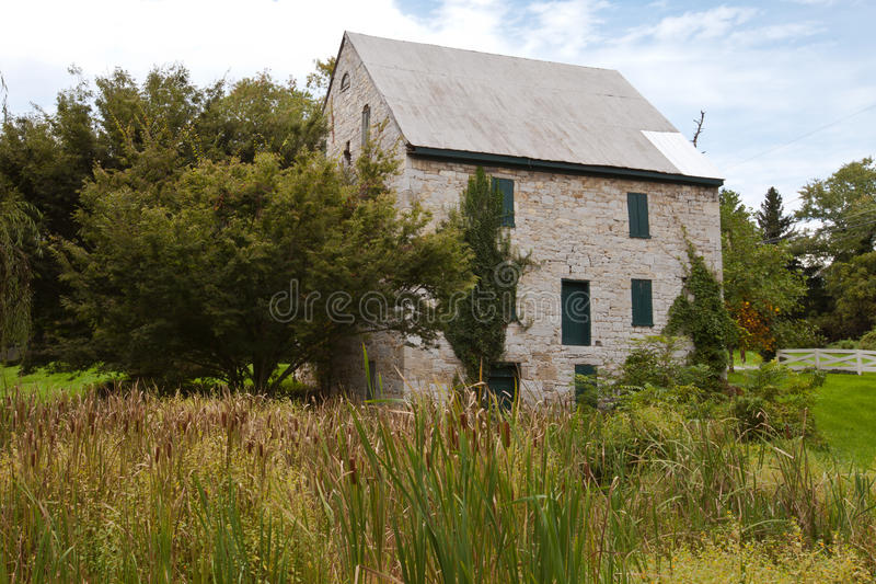 Historic Patterson Mill built in the 1800's. In Martinsburg, WV royalty free stock photography