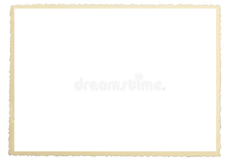 Historic photo frame paper. Original scan royalty free illustration