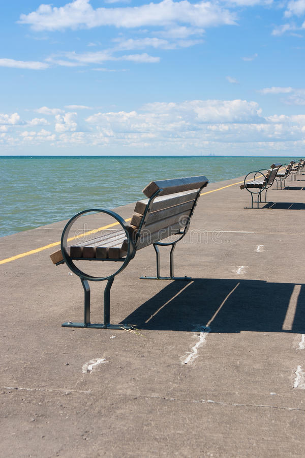The historic pier in Port Dalhousie,Canada. The historic pier in Port Dalhousie,Ontario,Canada stock photography