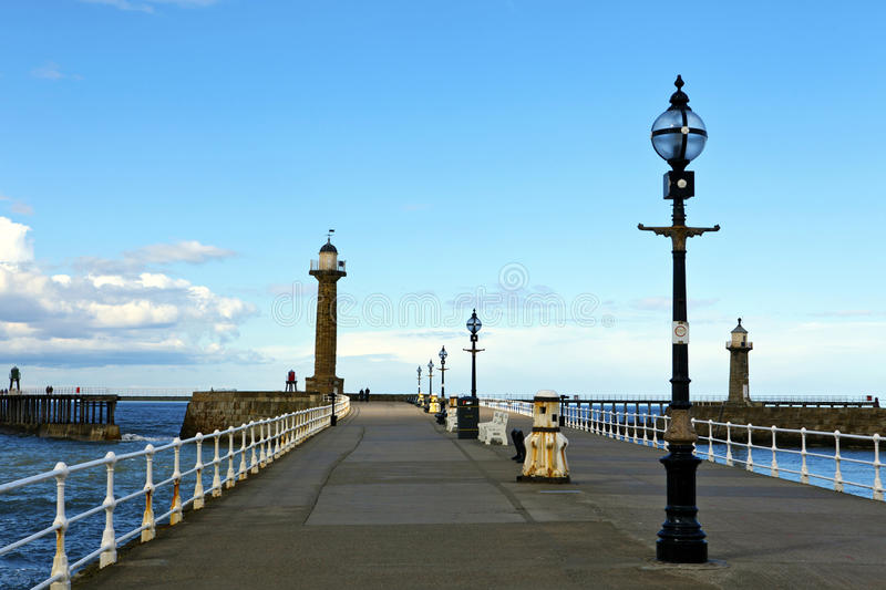 Download Historic pier at Whitby. stock image. Image of port, heritage - 30937415