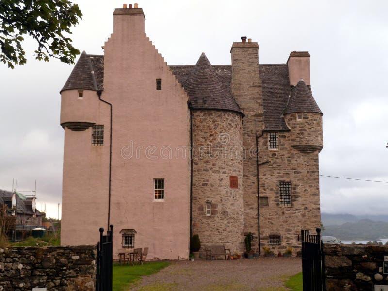 Historic Pink Scottish Castle royalty free stock photo