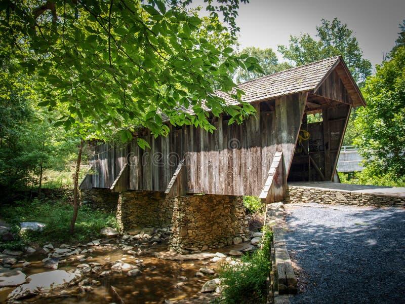 Historic Pisgah Covered Bridge royalty free stock photography