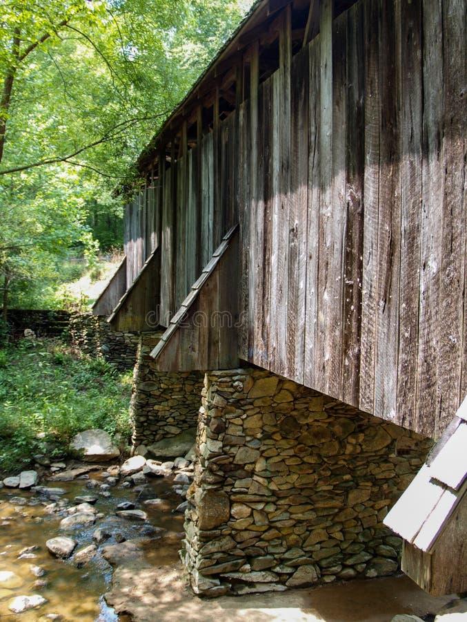 Historic Pisgah Covered Bridge stock images