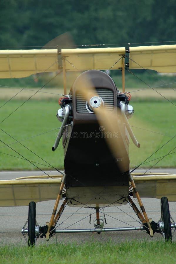 Historic plane. Starting royalty free stock photos