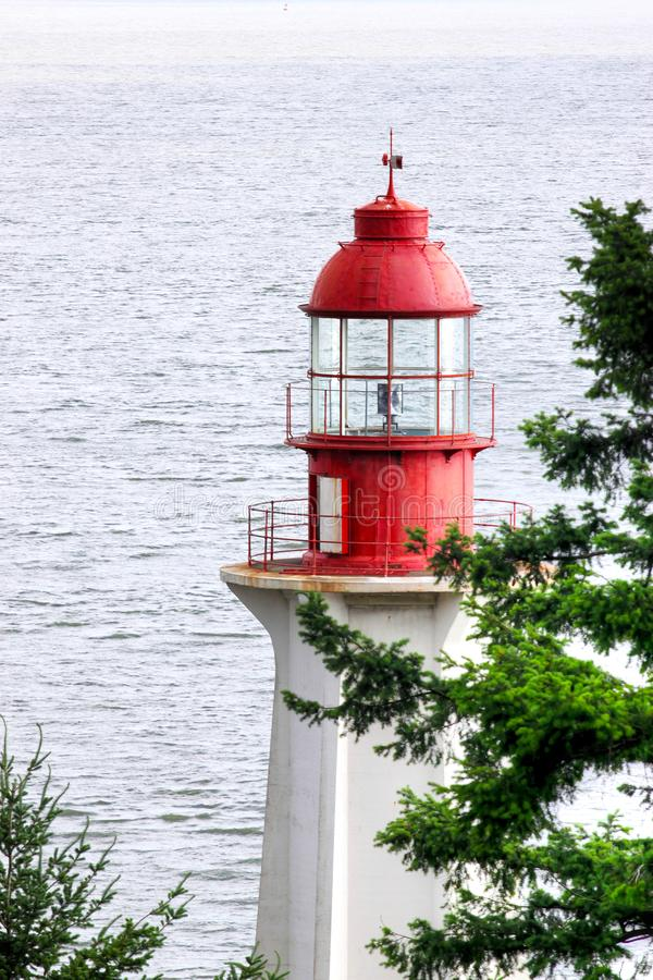 Historic Point Atkinson Lighthouse in West Vancouver royalty free stock photography