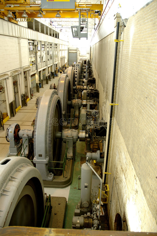 Historic Power Plant. A 100 year old electric power generating station. Camera : Nikon D70 stock photos