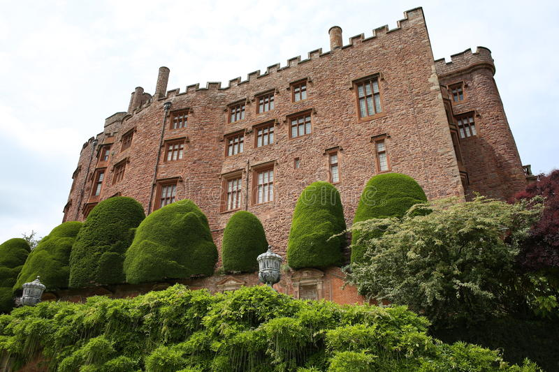 Historic Powis Castle in Wales, Great Britain stock images