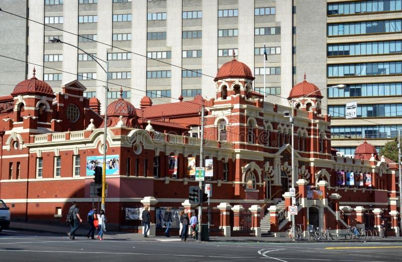 Historic Public Baths Building in Melbourne City. stock photo