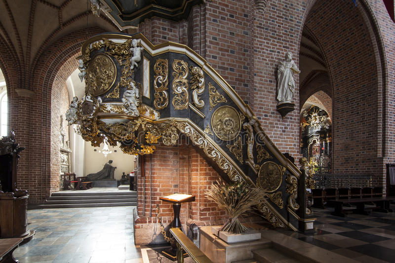 Download Historic Pulpit In The Archcathedral Basilica Of St. Peter And St. Paul In Poznan Stock Image - Image of church, golden: 48153287