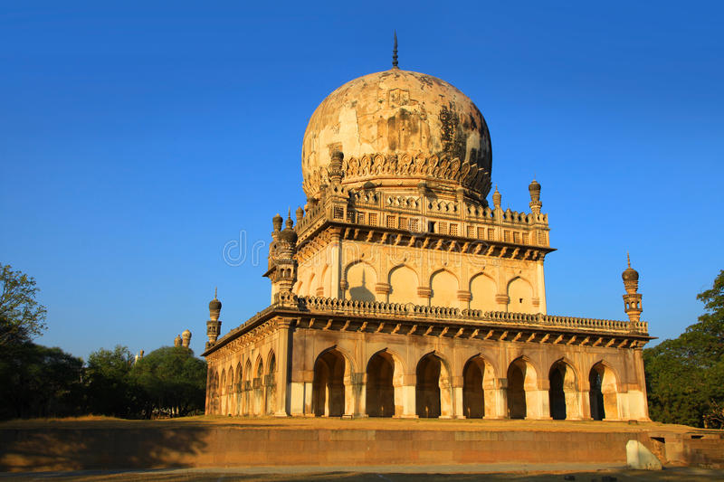 Historic Quli Qutbshahi tombs in Hyderabad royalty free stock images