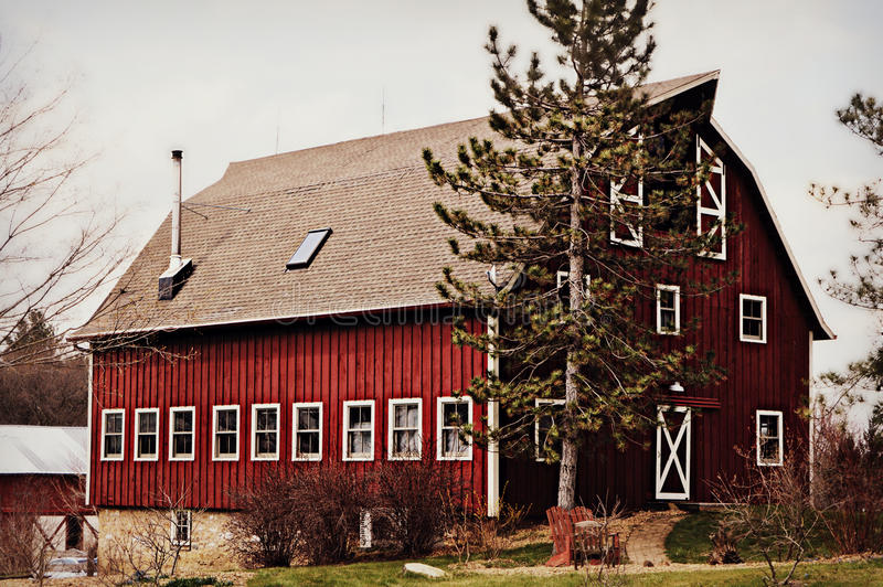 Historic Red Barn stock images