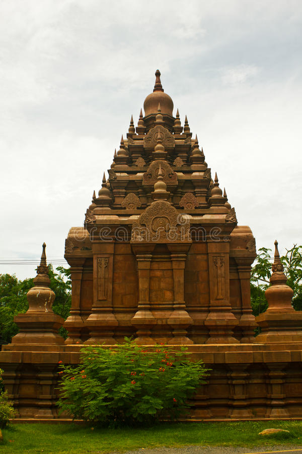 Download Historic Red Stupa In Thailand, Against Blue Sky Stock Photography - Image: 25710432