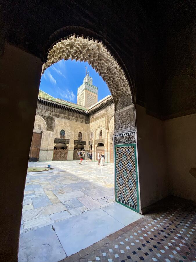 Mosque in Fes, Morocco royalty free stock photography