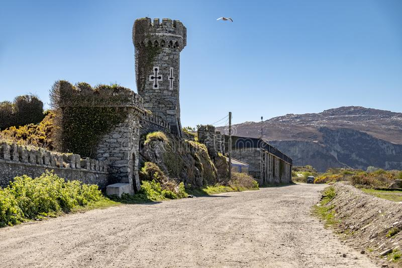 The historic remains of Soldiers point in Holyhead, Wales - United Kingdom. Europe stock image