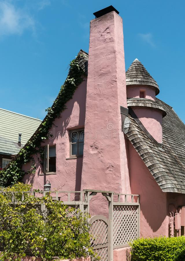 Historic residence, unusual architecture royalty free stock image
