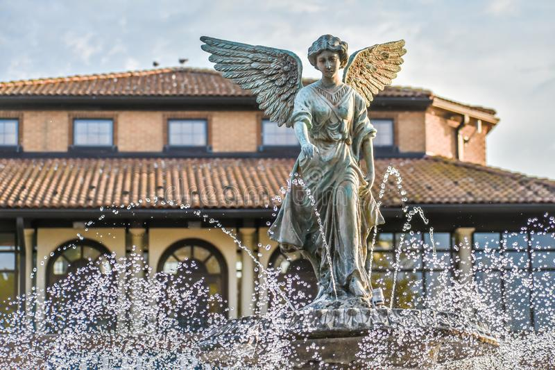 Historic Riviera Angel Fountain- Lake Genève, WI stock fotografie