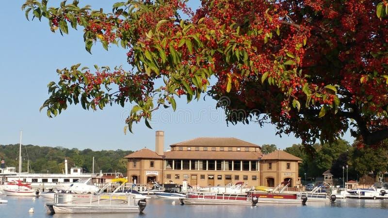 Historic Riviera on Lake Geneva, Wisconsin stock photo