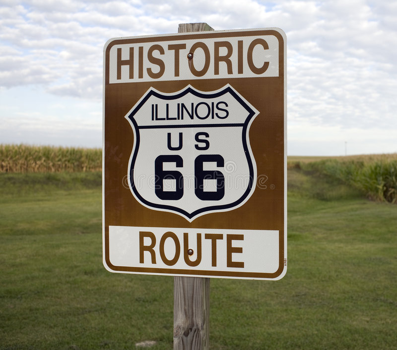 Historic Route 66 stock photos