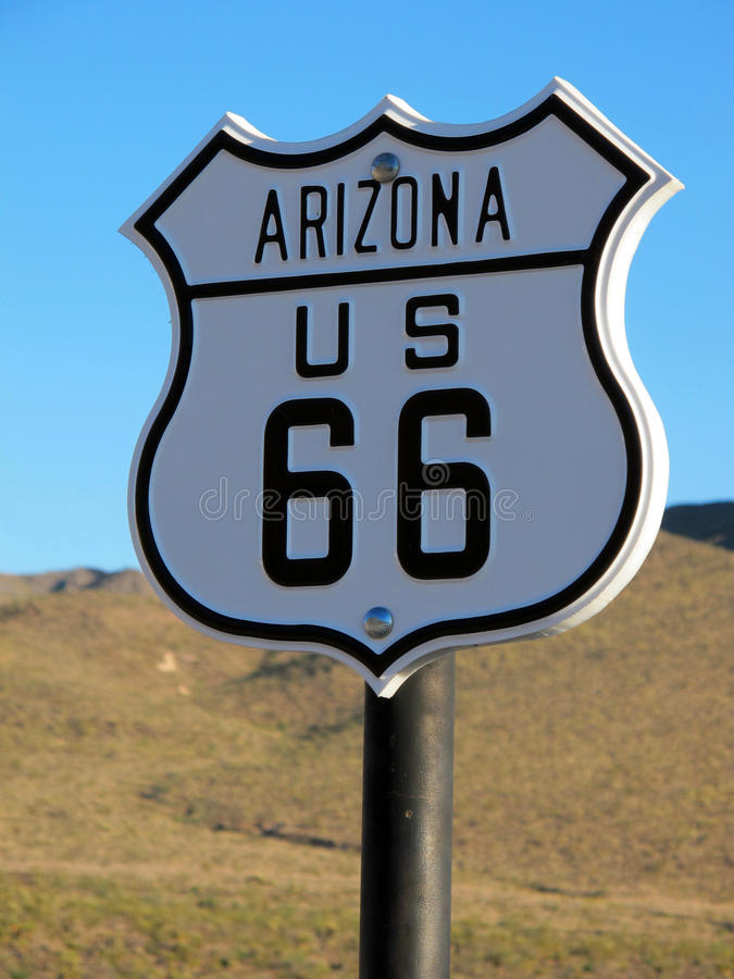 Download Historic Route 66 Arizona Sign Stock Image - Image of concept, across: 25888417