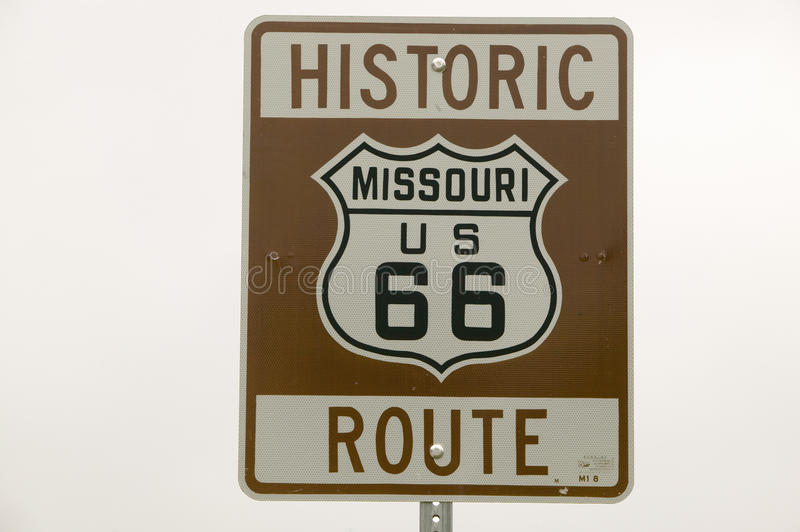 Historic Route 66 road sign royalty free stock images