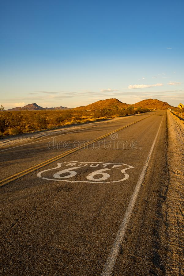 Historic Route 66 stock photography