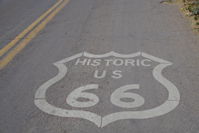 Get your kicks on Route 66 stock photo