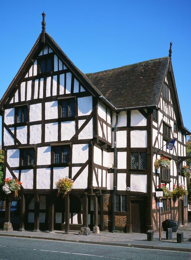 Historic Rowleys House in Shrewsbury, England stock images