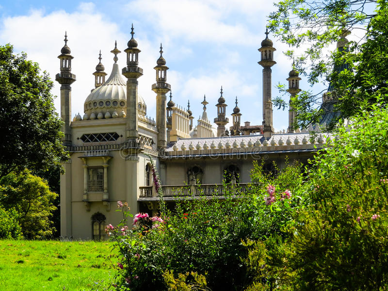 Historic Royal Pavillion in Brighton. East Sussex, England royalty free stock photography