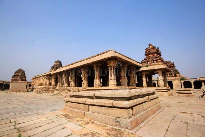 Historic ruins of a fort at Hampi, India stock photos