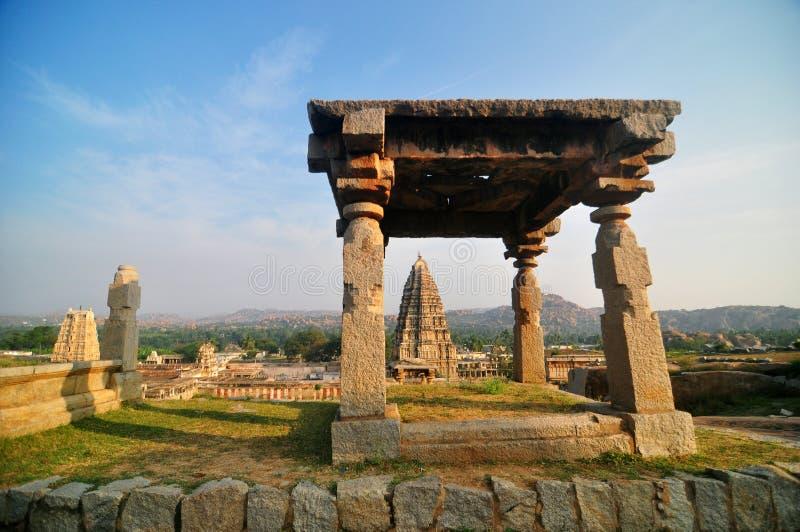 Historic ruins at Hampi in India stock photography