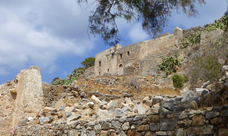 Historic ruins on Spinalonga island, Greece στοκ εικόνες