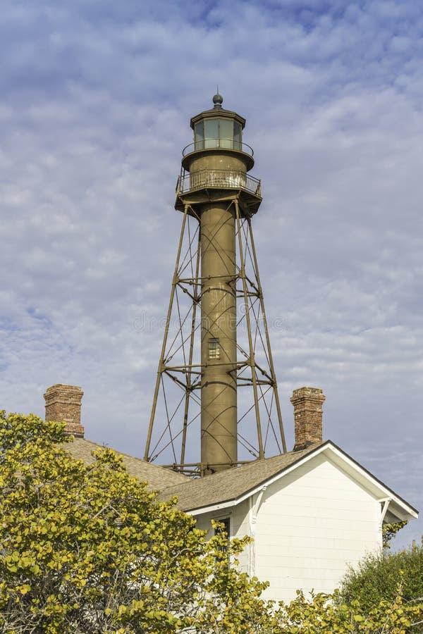 The historic Sanibel Island Lighthouse in Florida stock photo