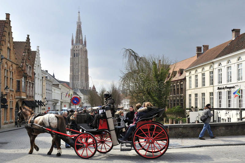 Brugge. The historic scenery in the centre of Brugge city in Belgium stock images
