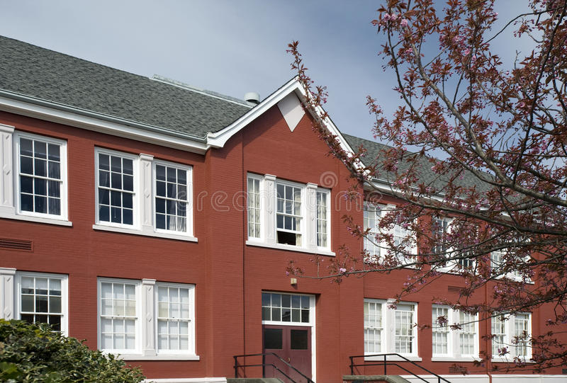 Download Historic school stock image. Image of facade, blue, houses - 28865683