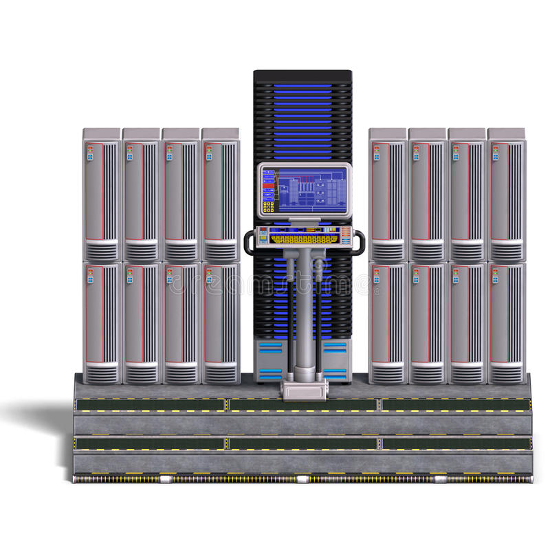 A Historic Science Fiction Computer Or Mainframe Stock Photography