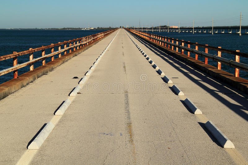 Historic Seven Mile Bridge. Pigeon Key State Park, Florida Keys stock photos