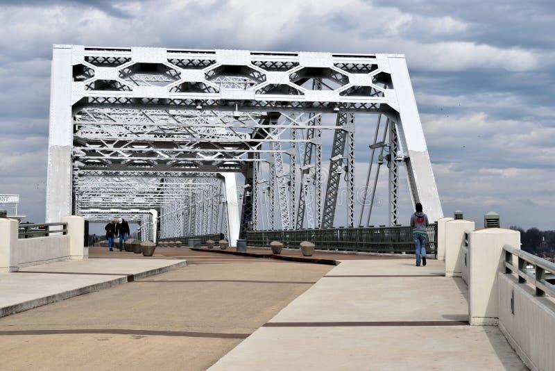 Shelby Street Pedestrian Bridge in Nashville royalty free stock photos