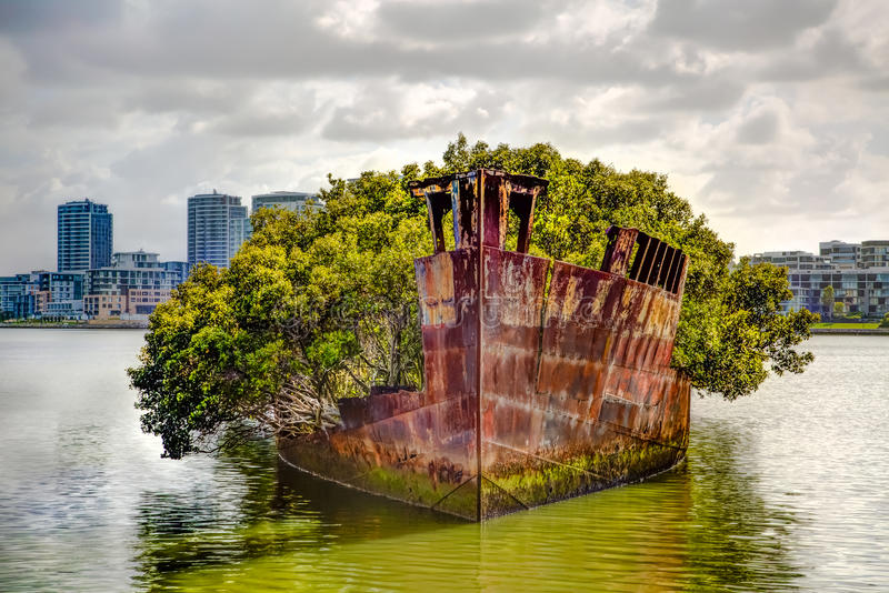 Shipwreck Sydney royalty free stock photos