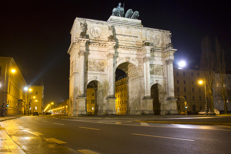 The historic Siegestor in Munich, Germany