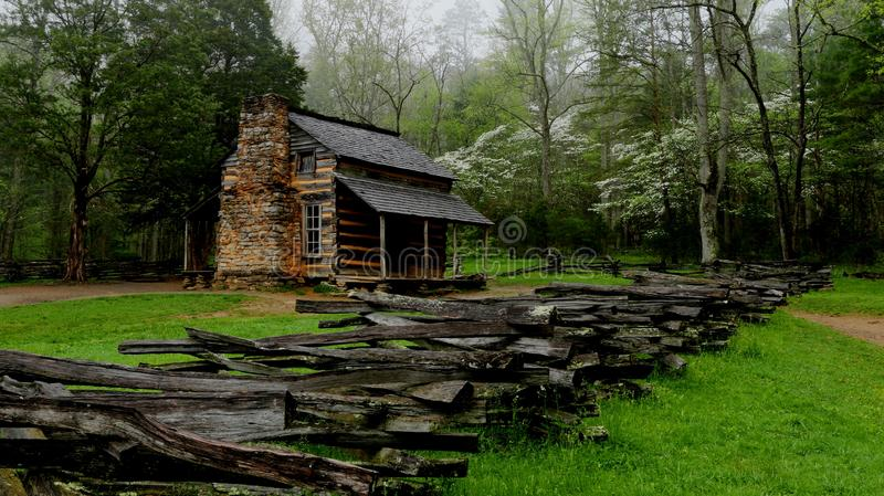 Smoky Mountain Cabin. John Oliver cabin in the Great Smoky Mountain National Park at Cades Cove royalty free stock photography
