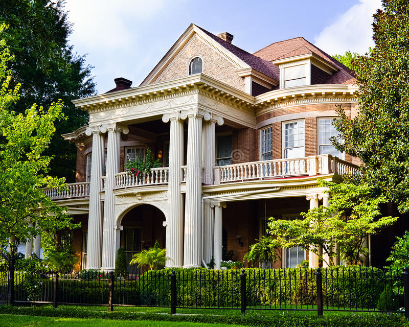 Historic Southern house. With Greek revival architecture royalty free stock photo