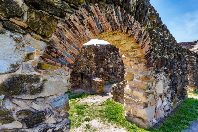 The Historic Spanish Mission Espada, Texas royalty free stock photos