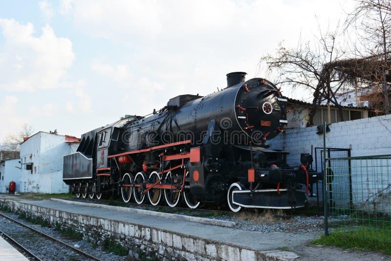 Historic steam locomotive carries stock photo